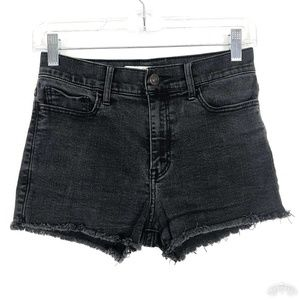 Abercrombie & Fitch Black High Rise Cut Off Shorts
